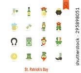 saint patricks day isolated... | Shutterstock .eps vector #295898051