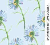 seamless pattern with chamomile ... | Shutterstock .eps vector #295900064
