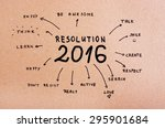 new year resolution 2016 goals ... | Shutterstock . vector #295901684