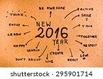 new year 2016 goals written on ... | Shutterstock . vector #295901714
