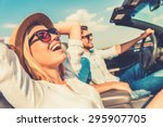 freedom of the open road. side... | Shutterstock . vector #295907705