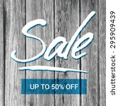 sale banner with hand lettering ... | Shutterstock .eps vector #295909439