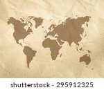 creased paper background... | Shutterstock . vector #295912325