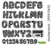 hand drawn vector doodle font... | Shutterstock .eps vector #295915631