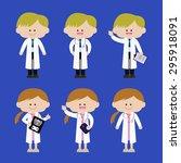 illustration of doctors | Shutterstock .eps vector #295918091