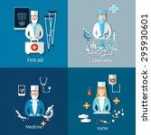medicine doctors and patients x ...   Shutterstock .eps vector #295930601