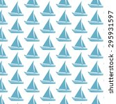 sailing boat pattern background | Shutterstock .eps vector #295931597