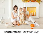 young family with a child at...   Shutterstock . vector #295934669