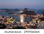 sugarloaf mountain and botafogo ... | Shutterstock . vector #295936064