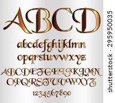 decorative metallic font  ... | Shutterstock .eps vector #295950035