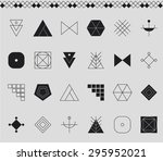 set of geometric shapes. trendy ...   Shutterstock .eps vector #295952021