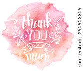 thank you so mach. hand... | Shutterstock .eps vector #295953359