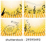 set of four vector musical... | Shutterstock .eps vector #29595493