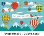 advertising banners pulled by a ... | Shutterstock .eps vector #295955351