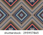 geometric ethnic pattern design ... | Shutterstock .eps vector #295957865