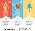 rocket space ship flat option...   Shutterstock . vector #295965161