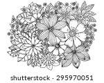 floral pattern. vector doodle... | Shutterstock .eps vector #295970051