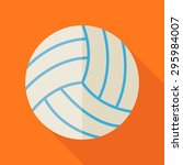ball volleyball. back to school ... | Shutterstock .eps vector #295984007