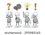 little sketchy men   orange... | Shutterstock . vector #295985165