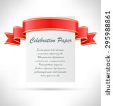 celebration paper card with... | Shutterstock .eps vector #295988861