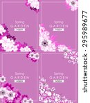 abstract flower background with ... | Shutterstock . vector #295989677