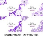 abstract flower background with ... | Shutterstock . vector #295989701