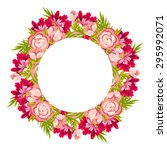 invitation with floral... | Shutterstock . vector #295992071