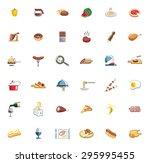food set of colored vector... | Shutterstock .eps vector #295995455