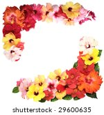 corner with hibiscus flowers | Shutterstock . vector #29600635