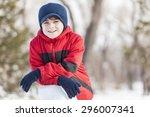 little cute boy having fun in... | Shutterstock . vector #296007341