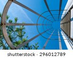 abstract industrial ladder....   Shutterstock . vector #296012789