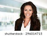 business woman at the office... | Shutterstock . vector #296014715