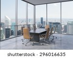 panoramic conference room in... | Shutterstock . vector #296016635