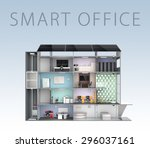 smart office concept. energy... | Shutterstock . vector #296037161