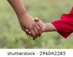 children holding hands   Shutterstock . vector #296042285