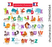cute cartoon french illustrated ... | Shutterstock .eps vector #296044064