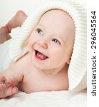 beautiful happy baby. one ... | Shutterstock . vector #296045564