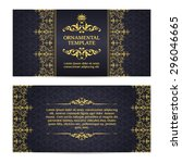ornate vector set banners in... | Shutterstock .eps vector #296046665