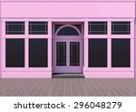Pink Store With Large Windows....