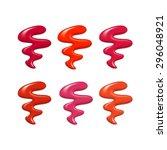 nail polish probe sample drops... | Shutterstock .eps vector #296048921