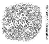 sri lanka hand lettering and... | Shutterstock .eps vector #296050469