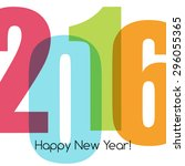 happy new year greeting with... | Shutterstock .eps vector #296055365