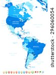 North And South America   Map...