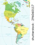 north and south america map  ... | Shutterstock .eps vector #296060117