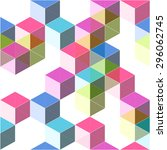 colorful geometric pop... | Shutterstock .eps vector #296062745