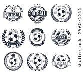 soccer football typography... | Shutterstock .eps vector #296075255