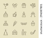 party icons | Shutterstock .eps vector #296087801
