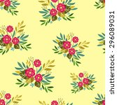 spring floral seamless pattern | Shutterstock .eps vector #296089031