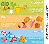 set of flat design concepts of... | Shutterstock .eps vector #296089094