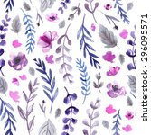 pattern color flowers... | Shutterstock . vector #296095571